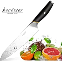 Becozier Professional Chef's Knife, 8 inch German High Carbon stainless steel cooking knife, sharp Edge, G10 Handle, Ergonomic Grip. Multipurpose Top kitchen knife for Home and Restaurant.