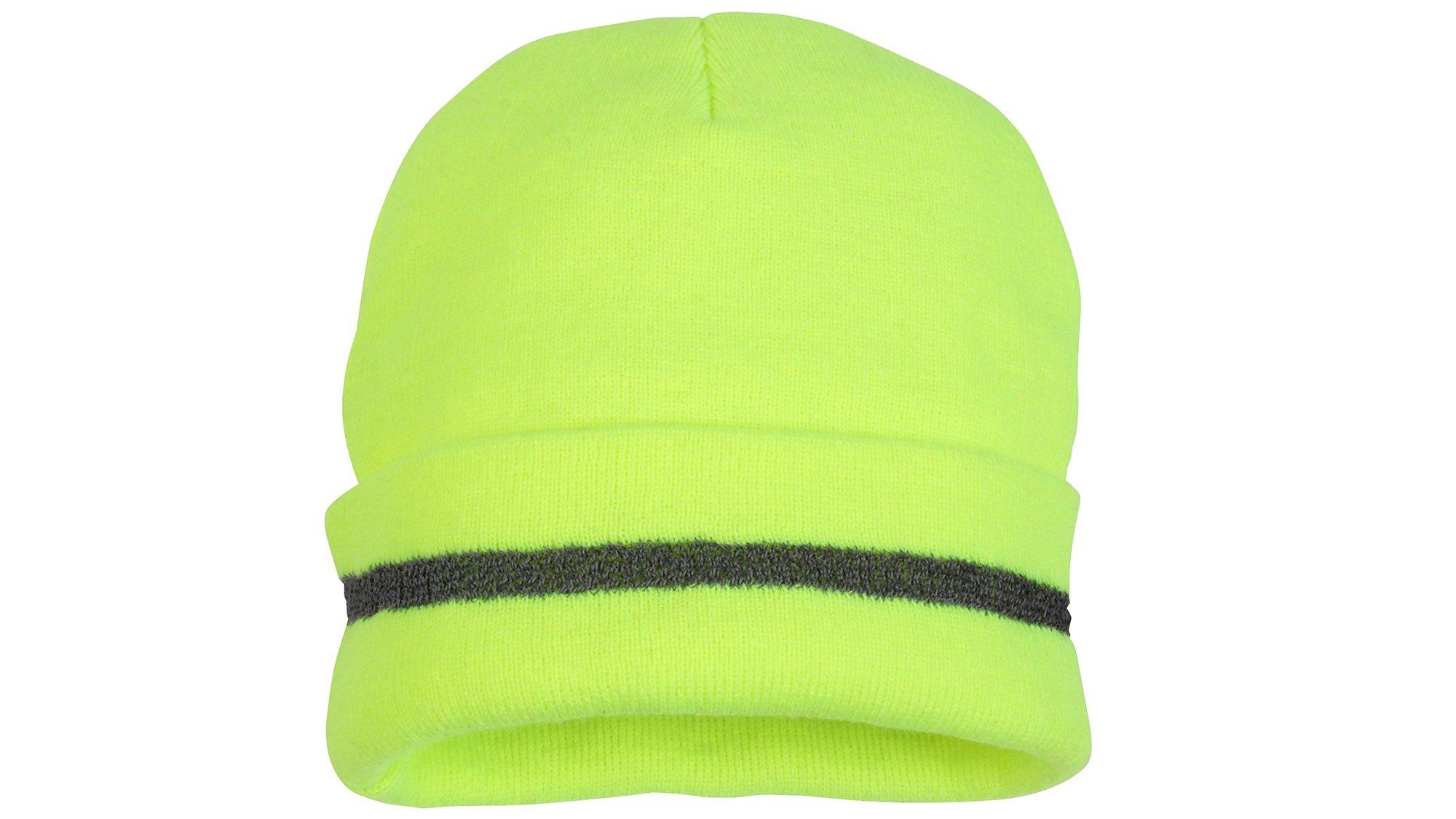 Pyramex RH110 Hi-Vis Reflective Lime Knit Cap, (12 Each)