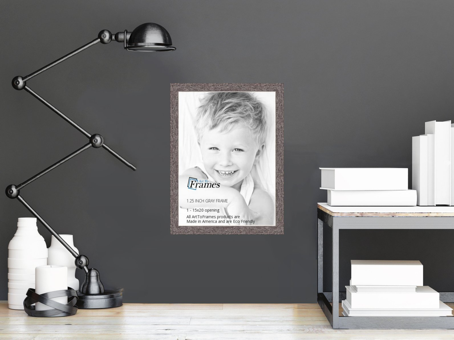 ArtToFrames 15x20 inch Gray Rustic Barnwood Wood Picture Frame, 2WOM0066-77900-YGRY-15x20 by ArtToFrames (Image #3)