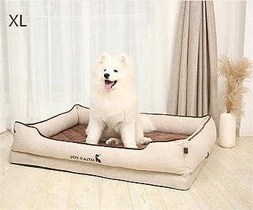 shell Cama de Perro Beige de Lujo Cama para Mascotas Suministros de colchones para Perros Four