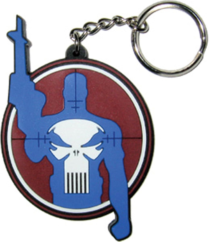 Amazon.com: Licencias Productos Punisher Target Logo Llavero ...
