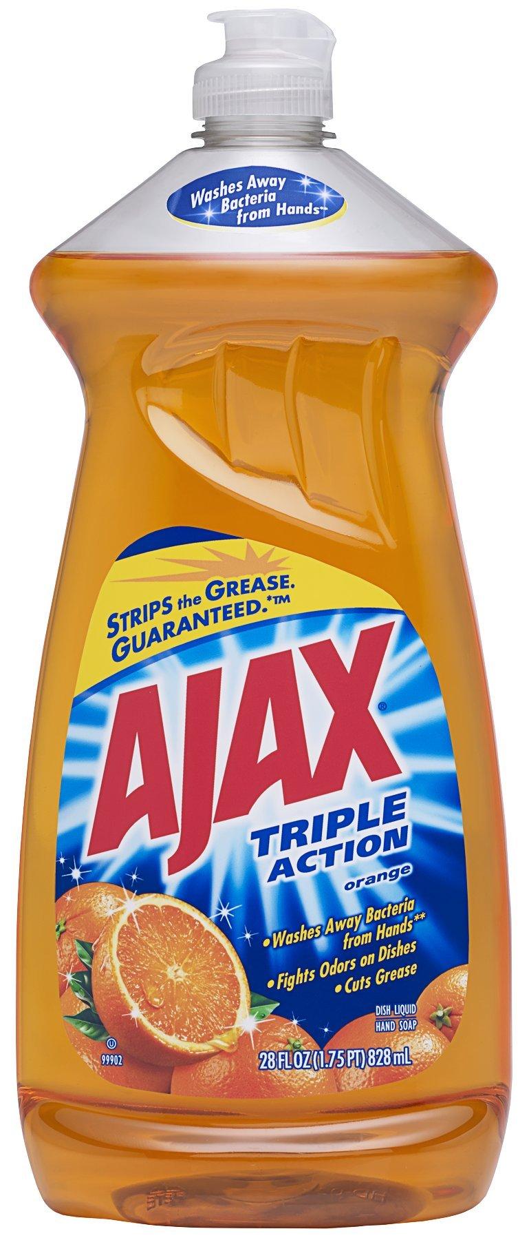 Ajax Triple Action Dish Liquid, Orange, 28 Ounce (Pack of 9)