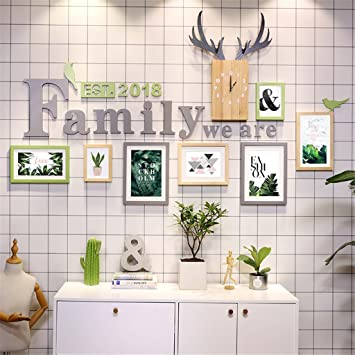 Gut XXFFH® Rahmen Foto Wand Kombination Massivholz Fotowand Bilderrahmen Wand  Wohnzimmer Einfach Modern Europäischer Stil Dekorative