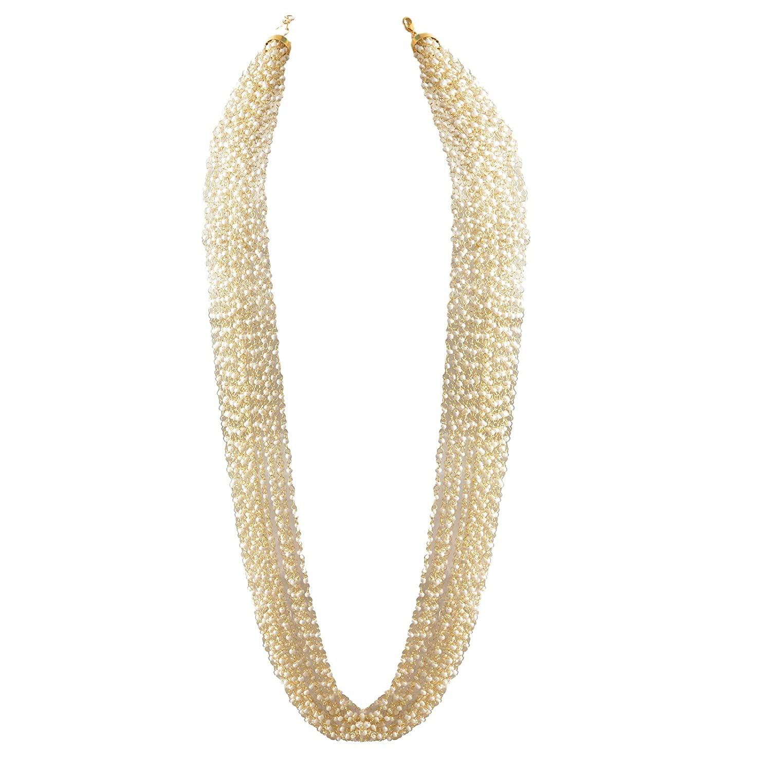 White JAN-357 Zephyrr Multi-Strand Necklace for Women