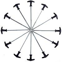 Qeedo Quick T-Pegs Piquets de Tente avec Poche, 20 cm / 30 cm (12 pièce / 25 pièce)