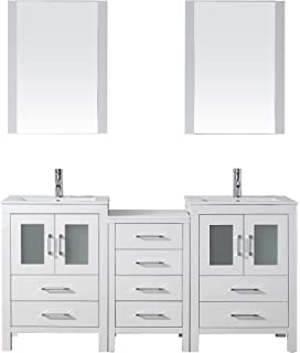 Virtu USA KD 70066 C WH Modern 66 Inch Double Sink Bathroom