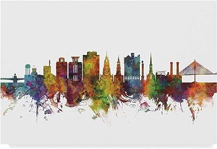Trademark Fine Art Charleston South Carolina Skyline Ii By Michael Tompsett 30x47 Posters Prints Amazon Com