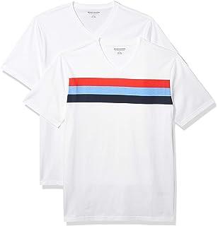 Amazon Essentials - Pack de 2 camisetas de manga corta y corte holgado con cuello redondo y bolsillo para hombre: Amazon.es: Ropa y accesorios