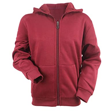 08704195ab Urimoser Hoodies for Boys Full Zip Lightweight Fleece Athletic Youth Kids  Plain Fall Sweatshirts