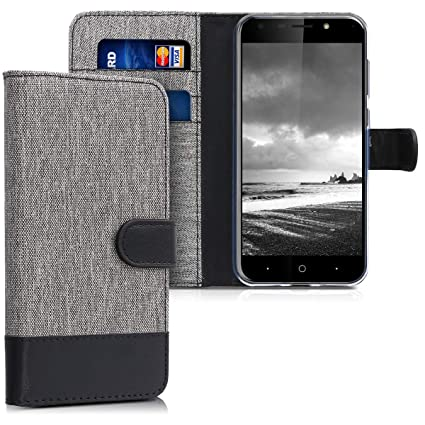 Amazon.com: kwmobile Wallet Case for ZTE Blade A6 - Fabric ...