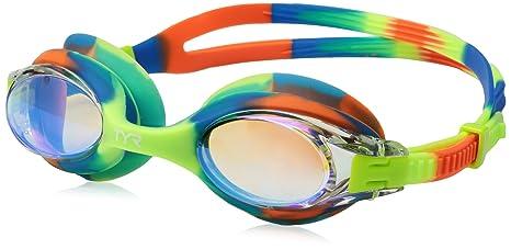 691b587bc8 Amazon.com   TYR Big Swimple Mirrored Tie Dye Goggles