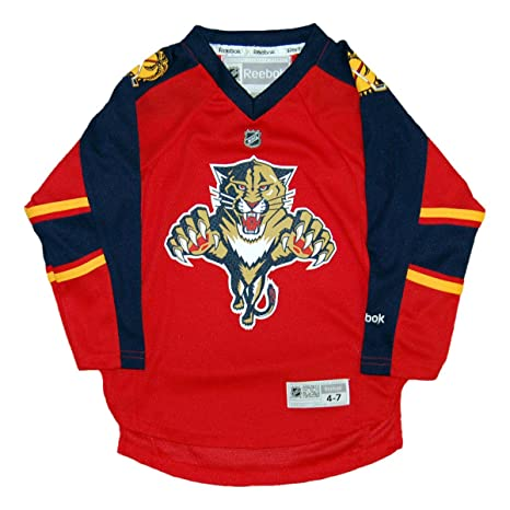 purchase cheap 5efc7 43bc0 Amazon.com : Reebok Florida Panthers Toddler Replica Home ...