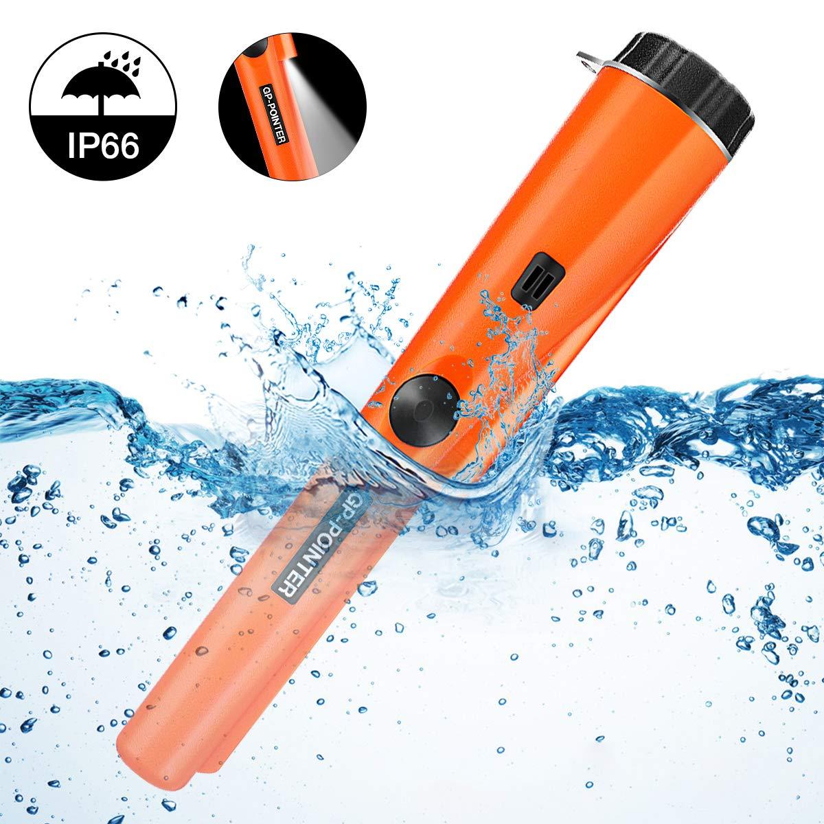 SGODDE Metalldetektor Metall Pointer Wasserdichter Pinpointer mit eingebautem LED Indicator und Holster Zubeh/ör f/ür Empfindlichkeit Schatzsuche f/ür Goldm/ünze Hunt f/ür Erwachsene//Kinder