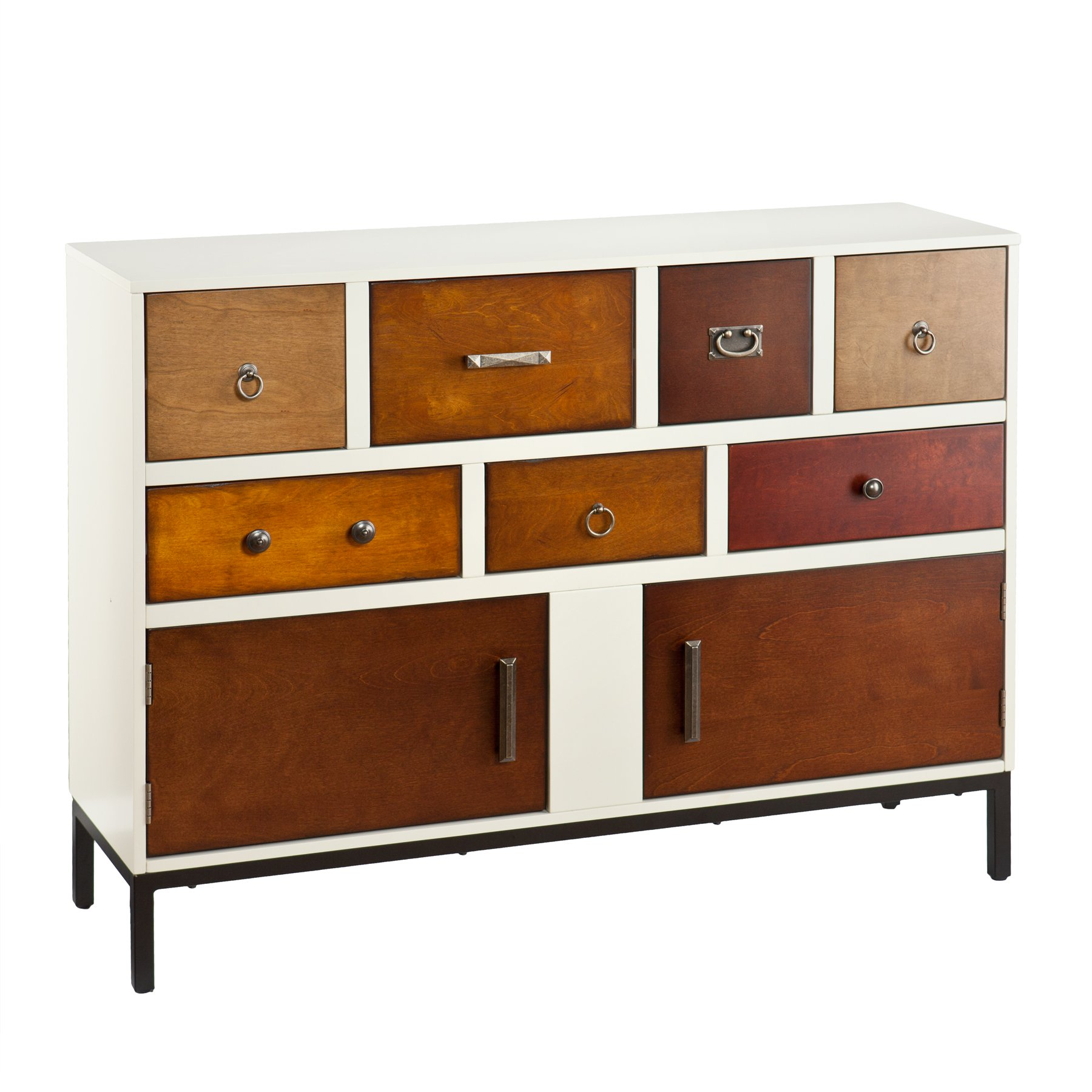 Devlin Console Credenza - Assorted Wood Finish - Midcentury Modern Style by SEI