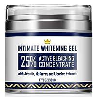 Intimate Whitening Cream - Made in USA Skin Lightening Gel for Body, Face, Bikini...