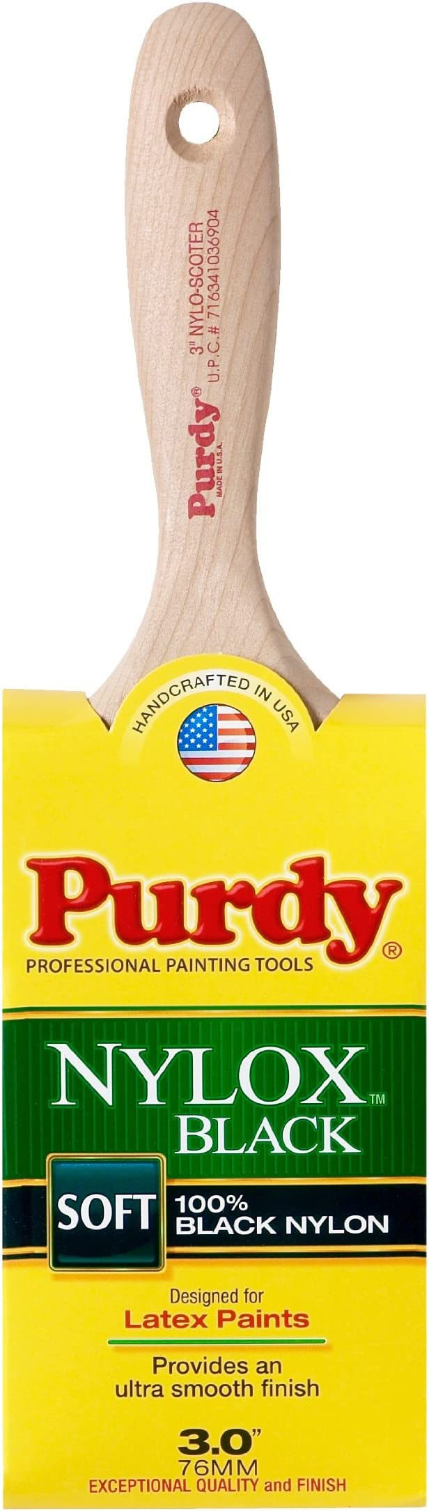 "Purdy Corporation 140152335 3.5/"" Black Nylon Glide Angle Paint Brush Large"