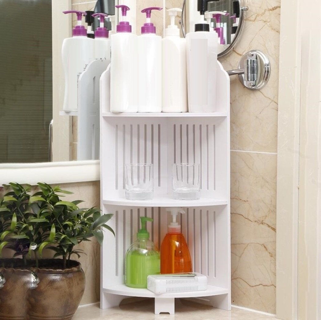 GL&G Bathroom Furniture Bathroom tripod Corner stand Shelf Landing Bathroom wash station Storage rack waterproof,B by GAOLIGUO