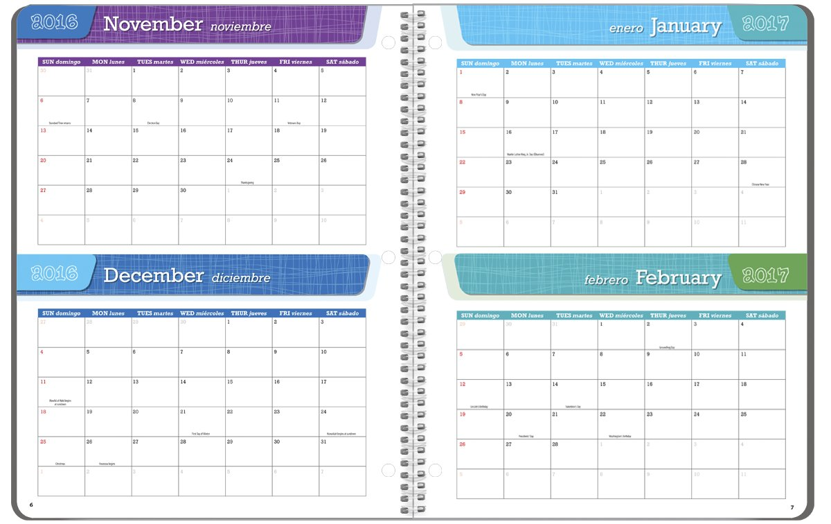 Student Planner 2016 - 2017 School Year Planner Elementary School Content 8.5'' x 11'' by School Datebooks (Image #3)