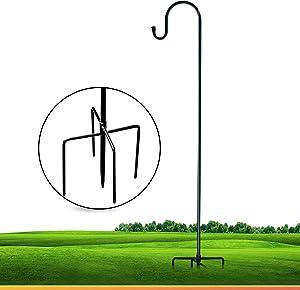 XDW-GIFTS Shepherd-Hooks Adjustable Lantern Plant-Hook Garden-Stake - 35 Inch Plant Stand Hanger for Outdoor Flower Basket Hanger Weddings Décor
