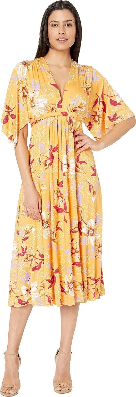 Daffodil Print Rachel Pally Womens MidLength Caftan DRS Dress