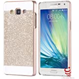 Samsung Galaxy A5 (2015-SM-A500F) Back Covers, Glitter Luxury Hybrid Bling Shiny Sparkling PC Hard Back Cover Case for Samsung Galaxy A5 - Gold (2015-SM-A500F)