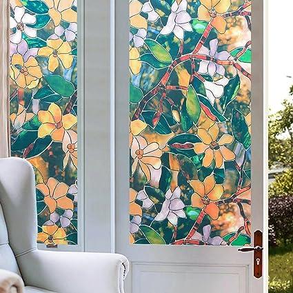 Amazon com: HYXL 3d Non-adhesive Window film Sunscreen Cellophane