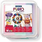Staedtler pâte à modeler FIMO soft capteur de rêves, facile à démouler, durcissant au four, class pack de 26 pains FIMO soft de 57 g en 11 couleurs assorties,  8023 50 LX