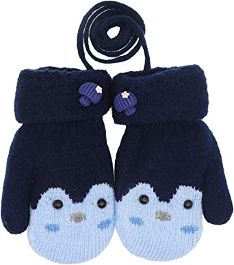 Unisex Baby Toddlers Kids Gloves Winter Knit Cotton Mittens for 1-5 Years Infant Baby Boys Girls Children