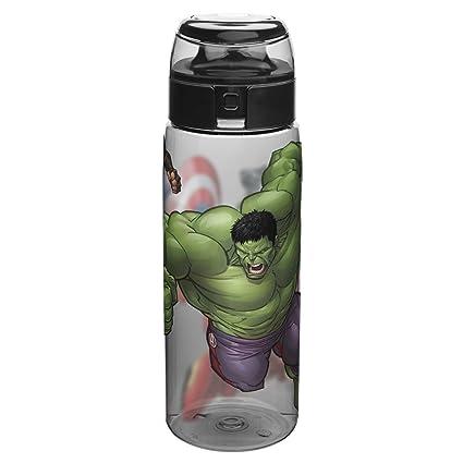 88ab8afb10 Amazon.com: Zak Designs AVNZ-K950 Marvel Comics Water Bottles Tritan, Black  Panther, Hulk, Captain America & Iron Man: Kitchen & Dining
