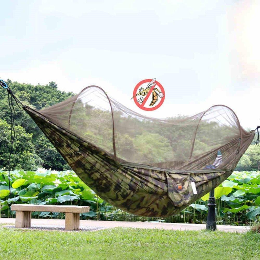 蚊帳キャンプダブルハンモックキャンプスイングと屋外のハンモック ( 色 : 迷彩 ) B073S646WM 迷彩 迷彩