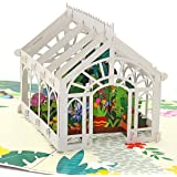 Liif Mother's Day Greenhouse 3D Greeting Pop Up Card For All Occasions, Valentines Day, Mother's Day, Father's Day, Wedding Card, Anniversary Card, Birthday Card for Her, Mom, Wife, Women, Sister