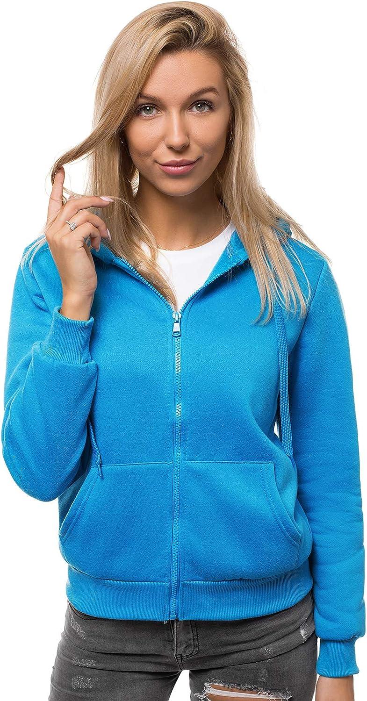 OZONEE Damen Kapuzenpullover Sweatjacke Sweatshirt Farbvarianten Kapuzenjacke Kapuzenpulli Kapuze Langarm Hoodie Sport Style Casual Fitness Training Basic JS//W03