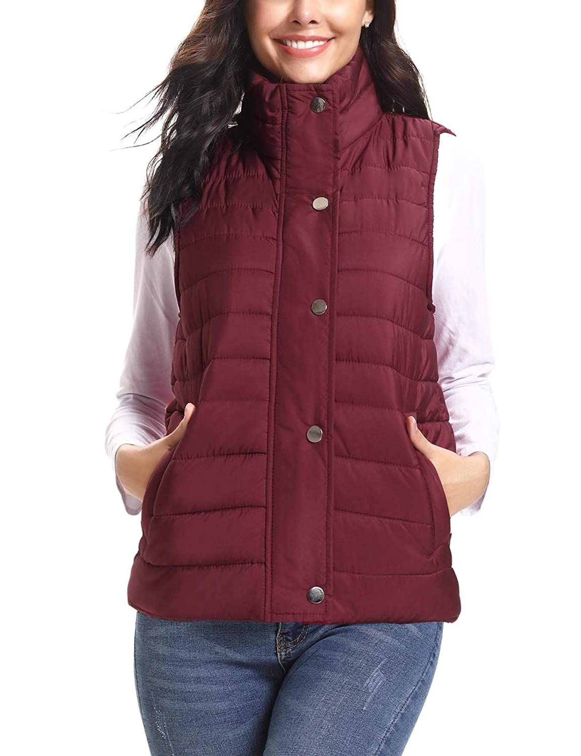 27a350c05 iClosam Women's Winter Puffer Vest Lightweight Packable Down Vest Quilted  Jacket Coat