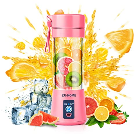 Amazon.com: Batidora portátil Zjj-Home Smoothie Blender-Six ...