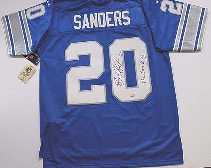 dc9a1819d0c ... shop barry sanders detroit lions autographed size l signed nfl  throwback jersey 1dc74 eb2d6