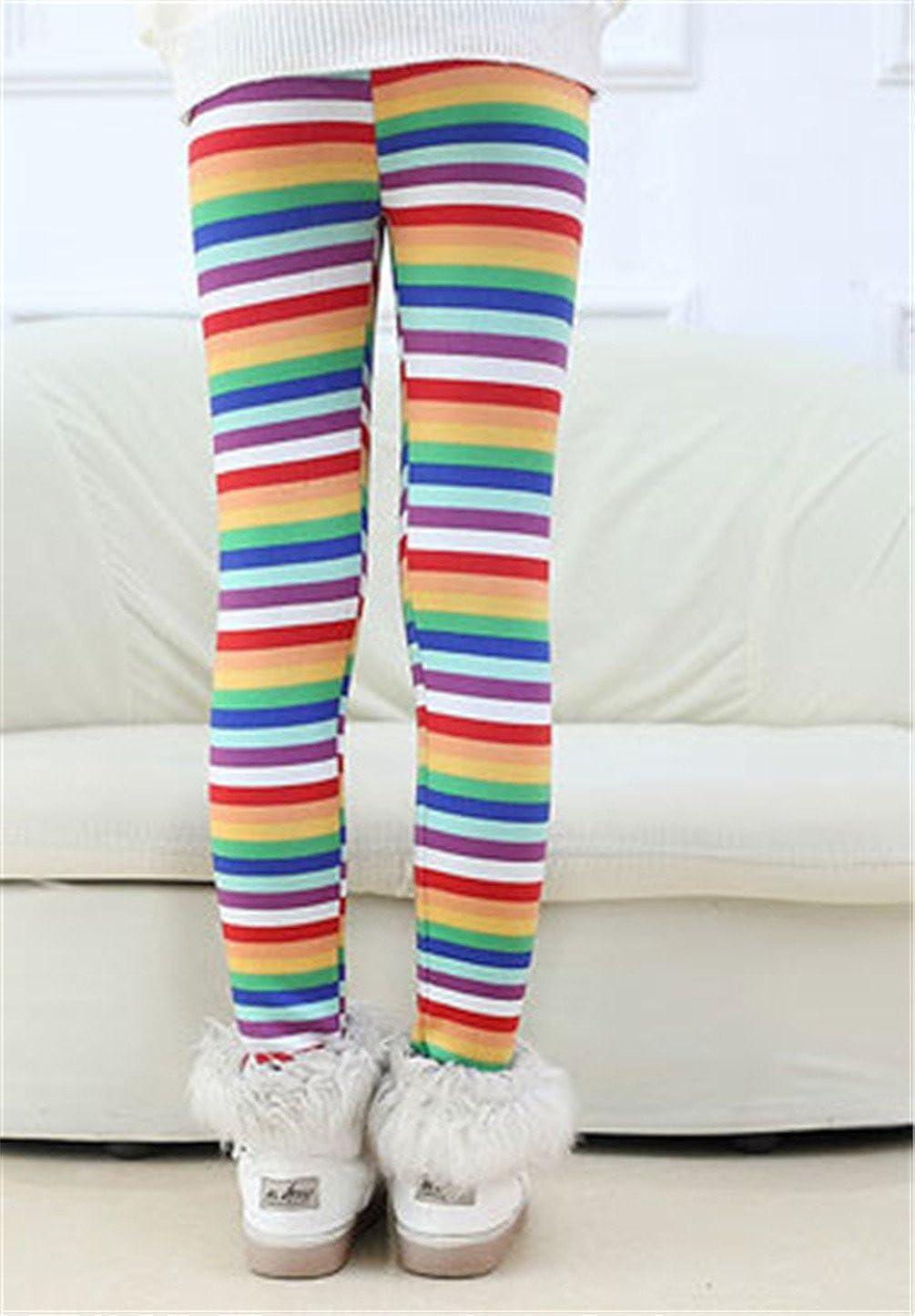 Rysly Girls Winter Thick Warm Long Pants Printing Fleece Lined Leggings