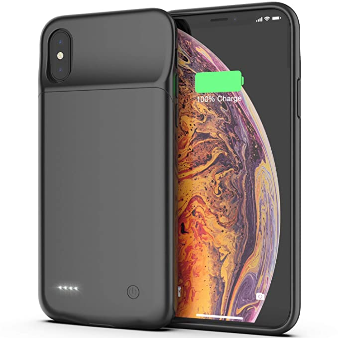 5058e5d4b iPhone X/Xs/10 Battery Case, 3200mAh Portable Protective Charging Case  Extended Rechargeable