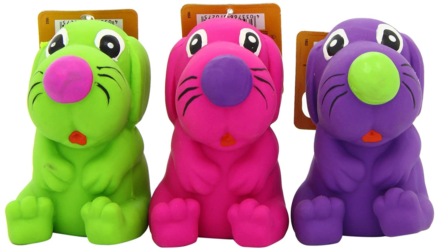 Nobby Latex Toy Dogs(Pack of 24 Toys)