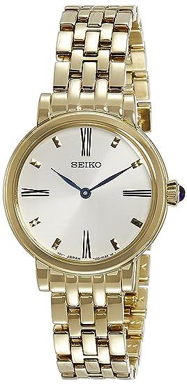 Seiko Reloj Analogico para Mujer de Cuarzo con Correa en Acero Inoxidable SFQ814P1