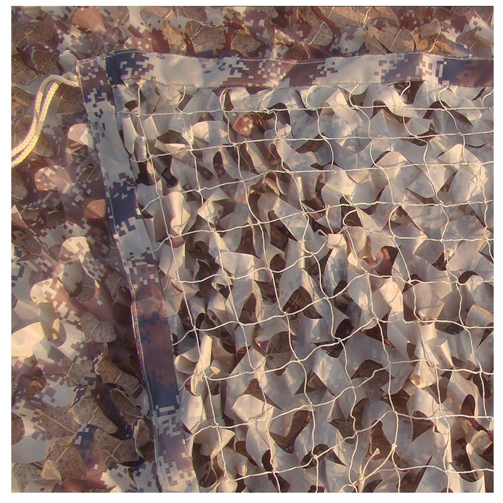 Desert 2x3m Filet de camouflage, pare-soleil de voiture en plein air, pare-poussière de voiture, double auvent de prougeection solaire pour les enfants, photographie, observation d'oiseaux, chasse, tir, Camo caché