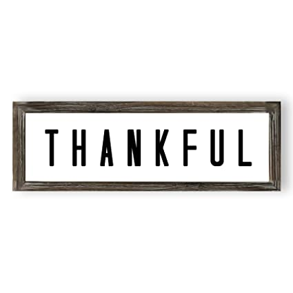 Amazon Com Thankful Wall Decor Thankful Sign Thanksgiving Rustic