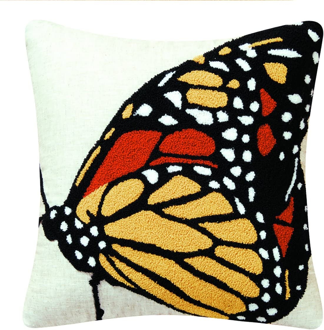 C&F Home Monarch Butterfly Side Tufted Pillow 18 x 18 Black