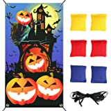 DECYOOL Halloween Toss Games Pumpkin Party Decoration with 6 Bean Bags for Kids