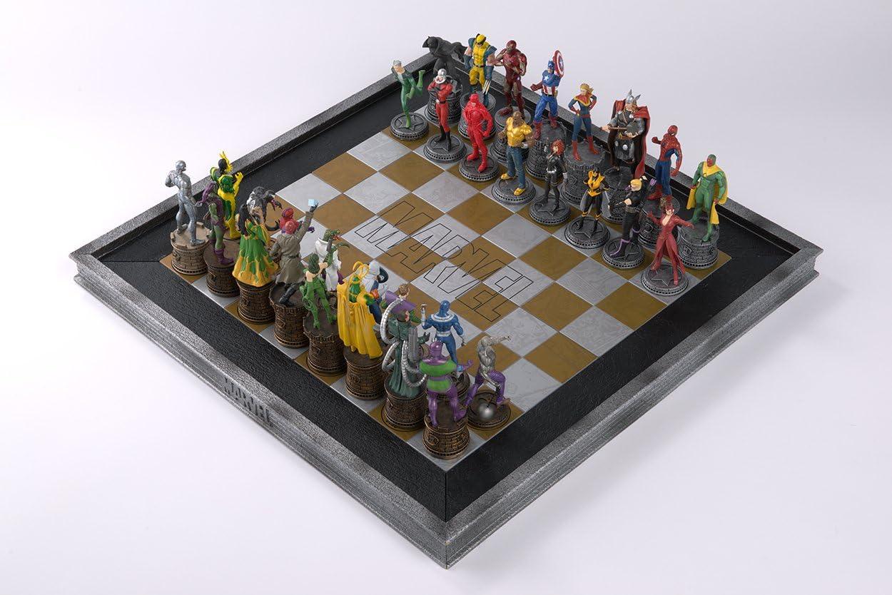 Tablero de ajedrez realizado en Resina para la colección Marvel (sin Figuras): Amazon.es: Juguetes y juegos