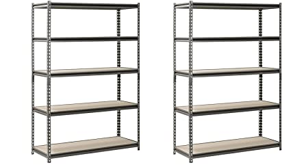 Hardware /& Outdoor Heavy Duty Garage Shelf Steel Metal Storage 5 Level Adjustable Shelves Unit 72 H x 48 W x 24 Deep