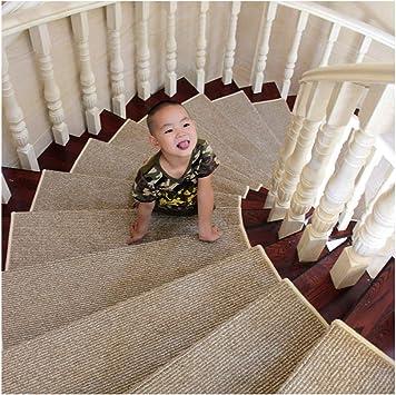 YOGANHJAT Alfombras escaleras Antideslizante Durable Autoadhesivo Amortigua Moqueta Lavable Step Pad Pequeñas para Suelos Duros o moqueta 80X24cm: Amazon.es: Deportes y aire libre