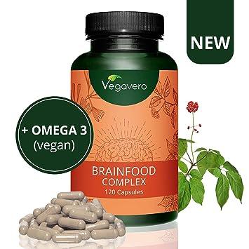Brainfood Complex Vegavero | Memoria + Concentración + Energía Mental + Estudio | DHA