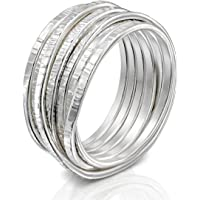 DiDaDo Handmade 925 Sterling Silver 'Wrapped up' Overlapping Intertwined Entwined Crisscross Crossover Knotted Statement…