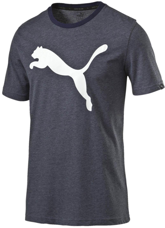 PUMA Men's Essential Big Cat Heather T-Shirt, Peacoat Heather, S