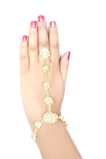9a64ea3bd5 Buy JS Jwell Indian Ring Bracelet for Women/Girls Online at Low Prices in  India | Amazon Jewellery Store - Amazon.in